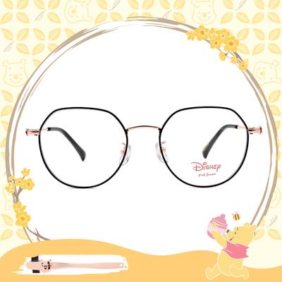 Disney-粉萌季 l 維尼的蜂蜜罐 多邊框眼鏡 霧黑金