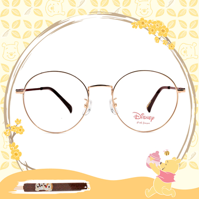 Disney-粉萌季 l QQ奇奇蒂蒂  波士頓框 金棕色