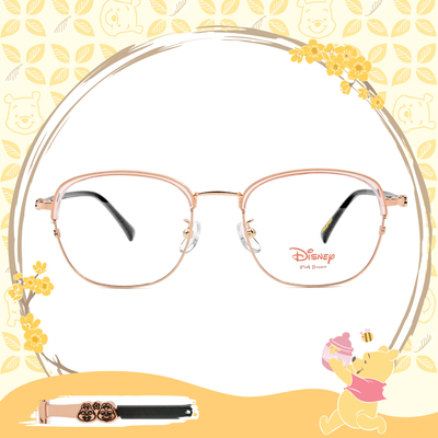 Disney-粉萌季 l 相親相愛奇奇蒂蒂 眉框眼鏡 透嫩粉