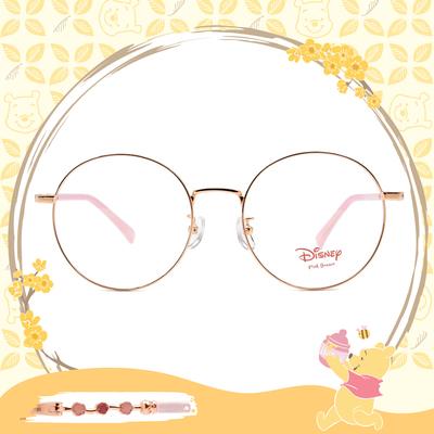 Disney-粉萌季 l 春採花蜜 大圓框眼鏡 玫瑰金