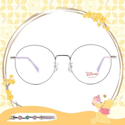 Disney-粉萌季 l 春採花蜜 大圓框眼鏡 玫紫色