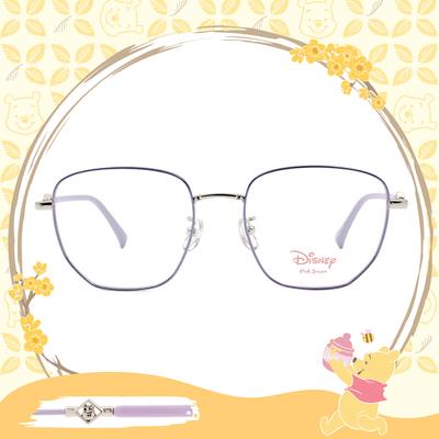 Disney-粉萌季 l 角落維尼 大方框眼鏡 丁香紫