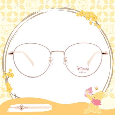 Disney-粉萌季 l 角落維尼 波士頓框眼鏡 粉嫩白
