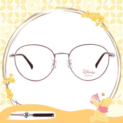 Disney-粉萌季 l 角落維尼 波士頓框眼鏡 紫羅蘭