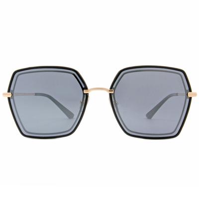 HORIEN 雙線多邊框墨鏡 潮炫藍