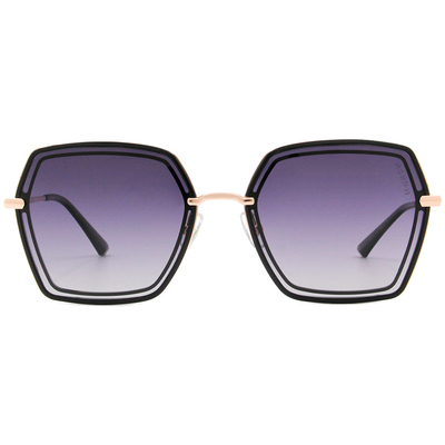 HORIEN 雙線多邊框墨鏡 神秘紫