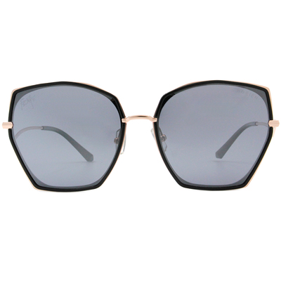 HORIEN 神秘多邊貓眼框墨鏡 透灰藍