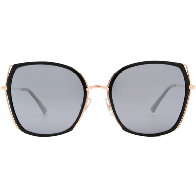 HORIEN 質感雙層線條款墨鏡 時尚黑
