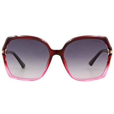 HORIEN 經典氣質大方框墨鏡 漸層紅