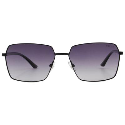 HORIEN 金屬質感方框墨鏡 酷炫黑