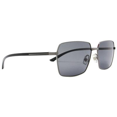 HORIEN 金屬質感方框墨鏡 深灰藍