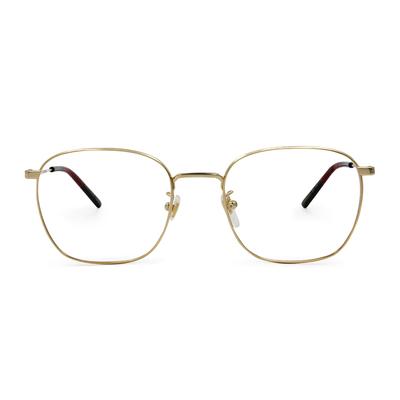 GUCCI│極簡俐落威靈頓框眼鏡│質感金