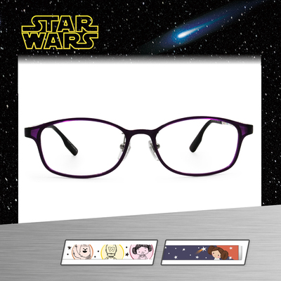 Star Wars:Q版莉亞公主 橢圓框眼鏡︱亮紫