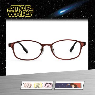 Star Wars:Q版莉亞公主 橢圓框眼鏡︱透紅