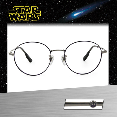 Star Wars:反抗同盟徽章 圓框眼鏡︱亮紫