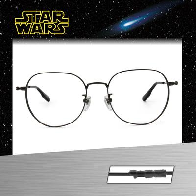 Star Wars:原力光劍 尤達 多邊框眼鏡︱鐵灰