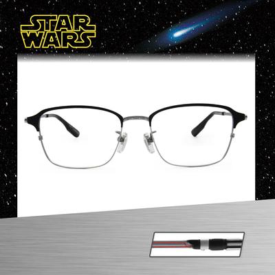 Star Wars:原力光劍 黑武士 長方框眼鏡︱銀灰