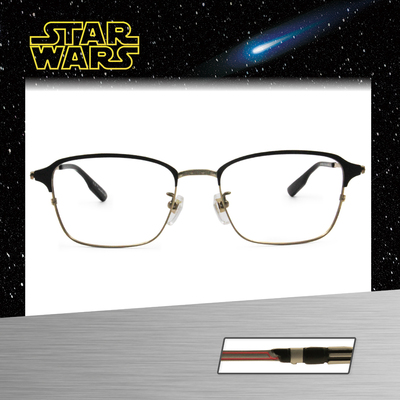 Star Wars:原力光劍 黑武士 長方框眼鏡︱黑金