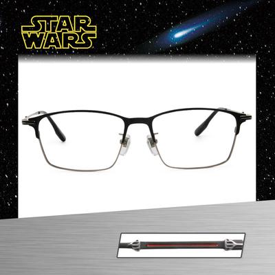 Star Wars:黑暗勢力 黑武士 長方眉框眼鏡︱黑銀