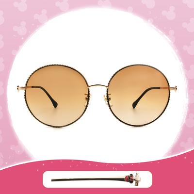 Disney 米妮│西班牙慶典 圓框墨鏡 夕陽棕 (大框款)