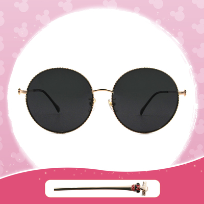 Disney 米妮│西班牙慶典 圓框墨鏡 夢露黑 (大框款)