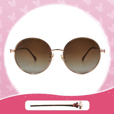 Disney 米妮│西班牙慶典 圓框墨鏡 溫柔粉 (小框款)