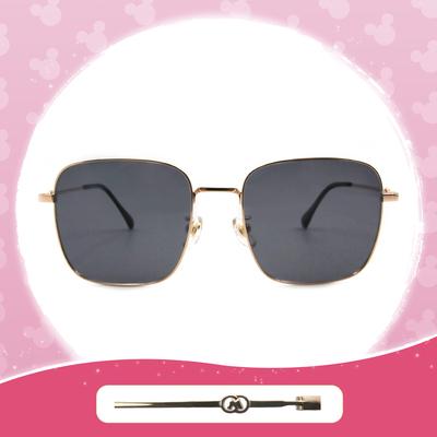 Disney 米奇│牛津廣場 方框墨鏡 炭晶黑 (小框款)