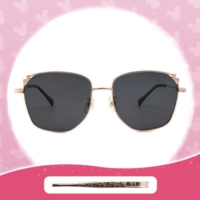 Disney 米奇│土耳其熱氣球 多邊框墨鏡 流金黑 (小框款)