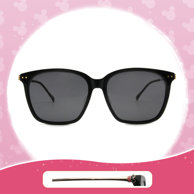 Disney 米奇│童話城堡 方框眼鏡 博學黑