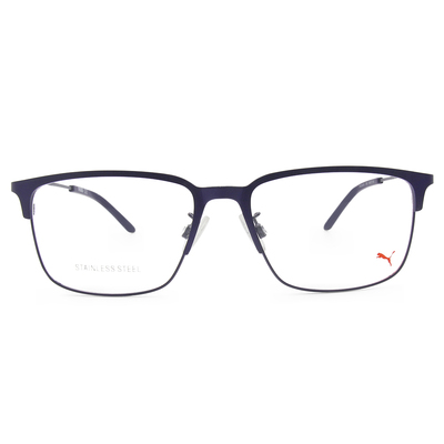 PUMA l 剛性質感 長方框眼鏡 l 宇宙藍