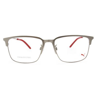 PUMA l 剛性質感 長方框眼鏡 l 太空銀