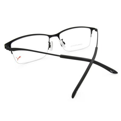 PUMA l 剛性質感 長方半框眼鏡 l 炭晶黑
