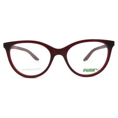 PUMA l 復古潮流 貓框眼鏡 l 烈焰紅