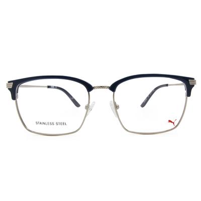 PUMA l 城市雅痞 方型眉框眼鏡 l 黛藍/銀