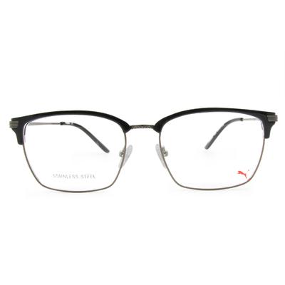 PUMA l 城市雅痞 方型眉框眼鏡 l 鐵銀/黑