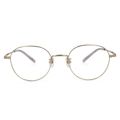 Selecta|簡約細緻橢圓框眼鏡|典藏金