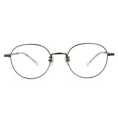 Selecta|簡約細緻橢圓框眼鏡|仿古銅