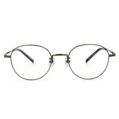 Selecta|簡約細緻橢圓框眼鏡|布魯灰