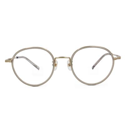 Selecta|質感套圈波士頓框眼鏡|珍珠藕