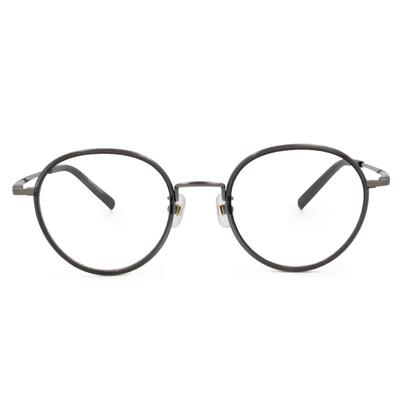 Selecta|質感套圈波士頓框眼鏡|墨黛藍