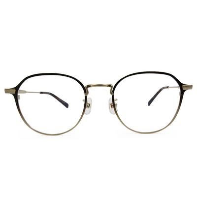 Selecta|書香世家多邊框眼鏡|深金棕