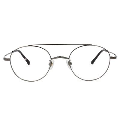 Selecta|雙樑飛官波士頓框眼鏡|霧質灰