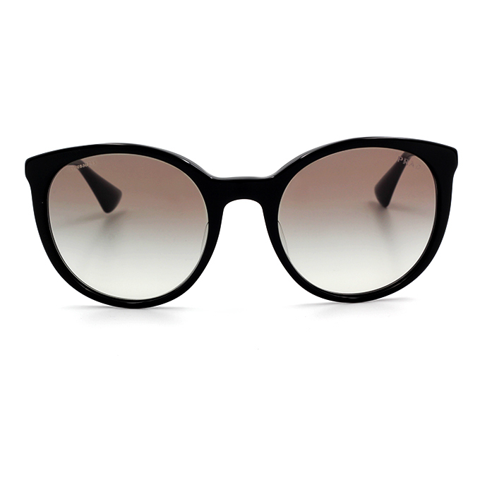 PRADA 奢華金耀波士頓框墨鏡  閃爍黑 (PR17SSF-1AB0A7)