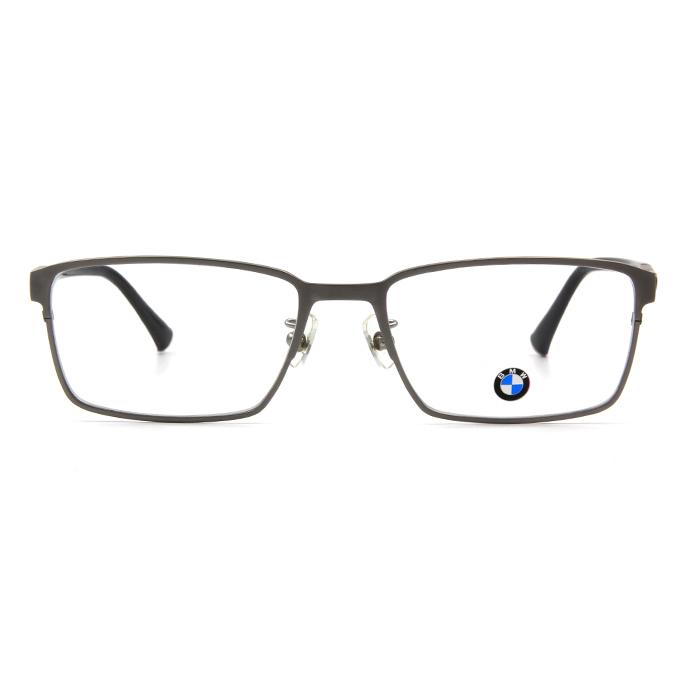 BMW 輕鈦光學眼鏡 雙質交界 ▏霧銀/亮黑