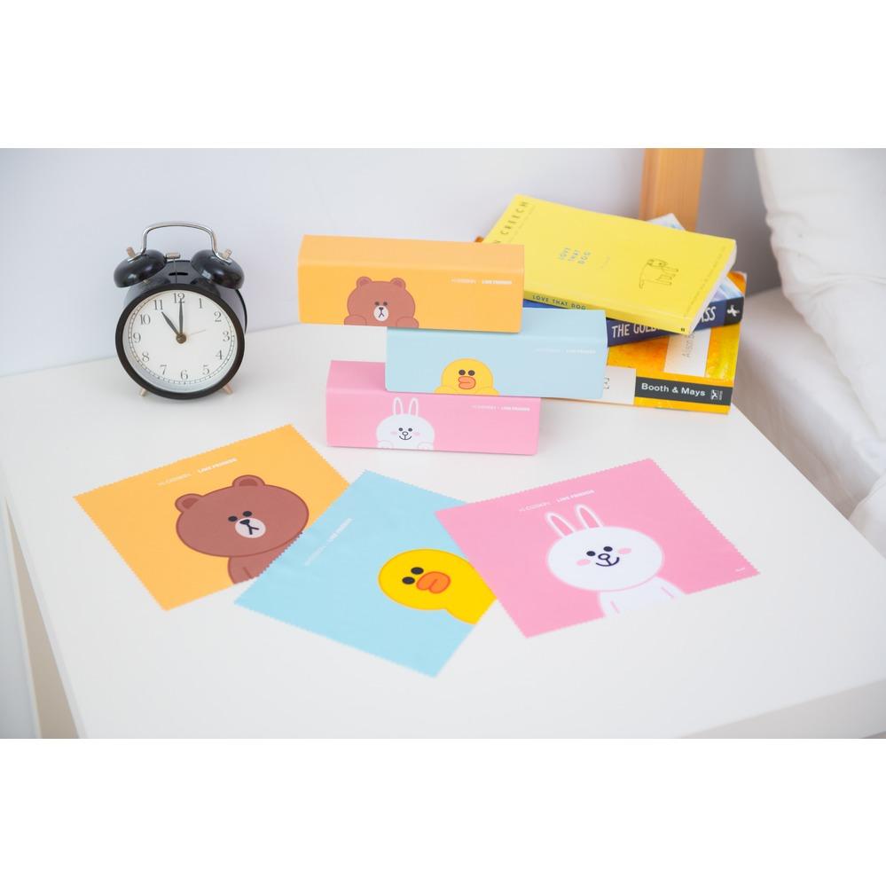 K-DESIGN   LINE FRIENDS◆長方框-亮黑/集合金(熊大金鑄)