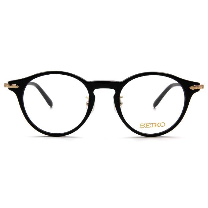 SEIKO 知性の鈦 菱鑽波士頓復古框眼鏡 ▏金黑
