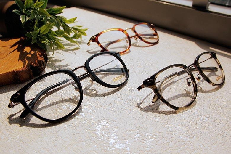 SEIKO 知性の鈦 經典菱鑽威靈頓框眼鏡 ▏玳瑁金