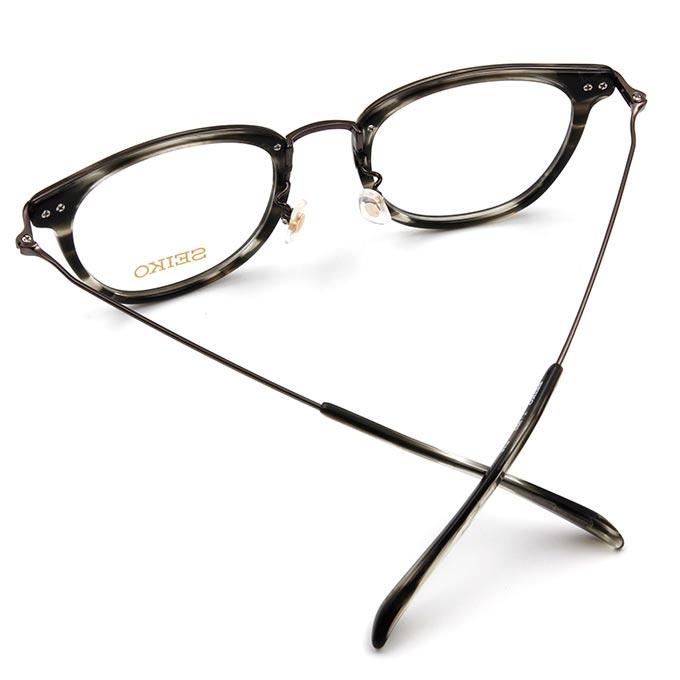 SEIKO 知性の鈦 經典菱鑽威靈頓框眼鏡 ▏水墨黑