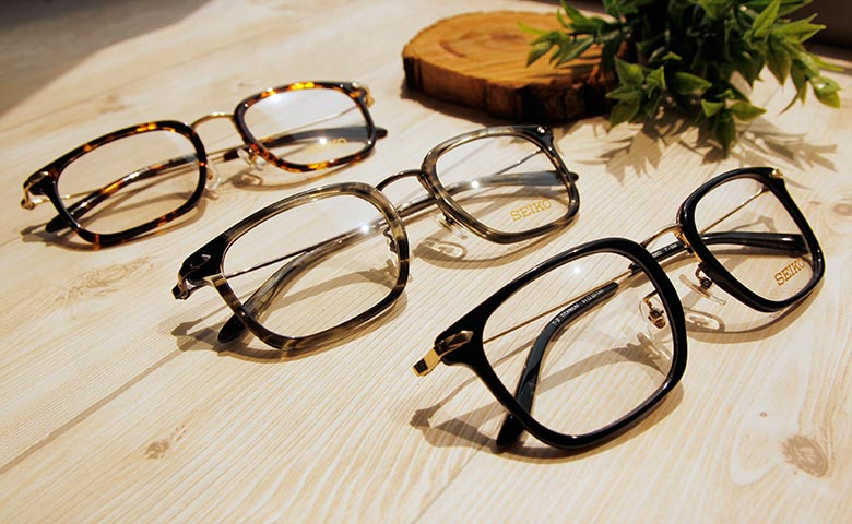 SEIKO 知性の鈦 金屬菱鑽款眼鏡復古方框眼鏡 ▏水墨黑