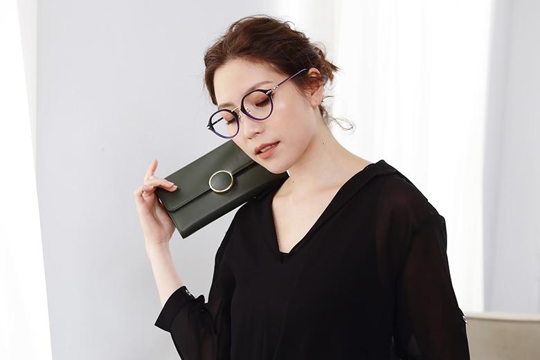SEIKO 知性の鈦 幾何菱鑽復古圓框眼鏡 ▏紫藍